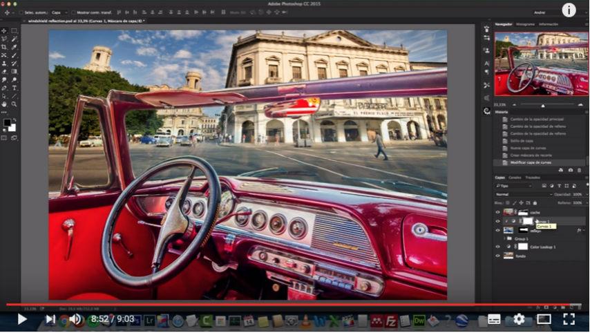 Crea Reflejos con Adobe Photoshop CC en Español