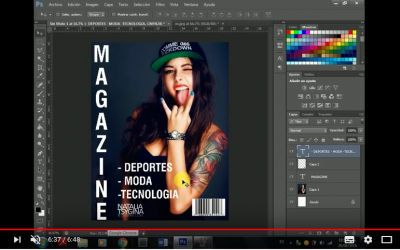 Como hacer Portadas de Revista en Photoshop cs6