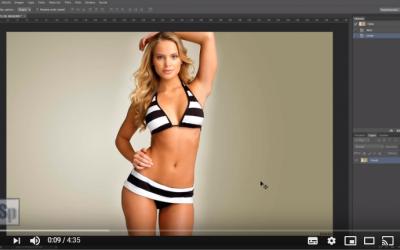 Como estilizar figura, retocar cuerpo, aumentar pechos con photoshop