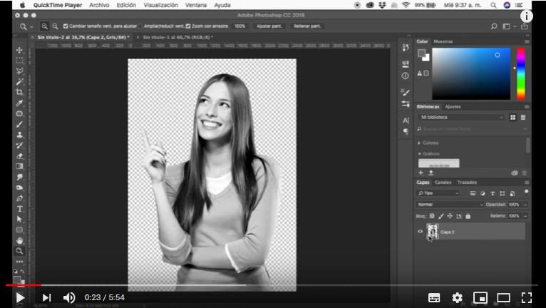 ¿Cómo convertir una imagen a semitonos? Photoshop CC